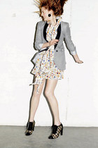 white D&G dress - heather gray Boy by Band of Outsiders blazer