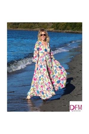 hot pink maxi dress dress