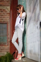 sky blue railroad stripe merona jeans - white fifa us Rhinox shirt