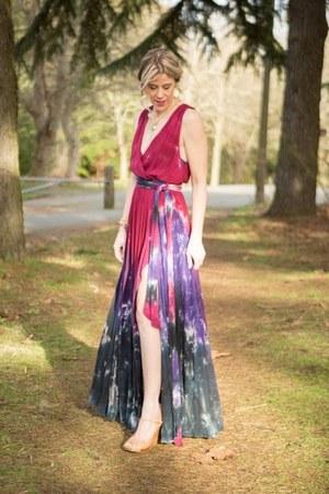 brick red maxi dress dress