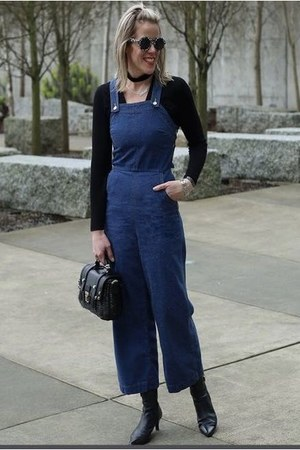 blue denim jumpsuit romper