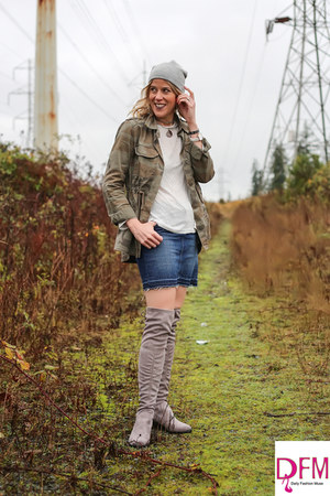 heather gray over the knee charles by charles david boots