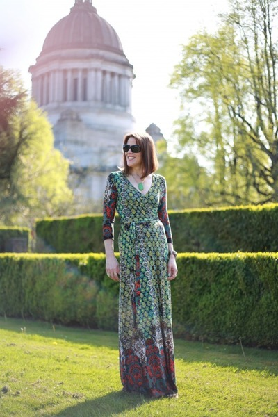 green maxi Dailylook dress