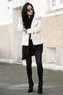 Black-zara-boots-black-zara-dress-black-zara-jeans-white-oasap-jacket