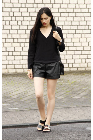 black Mango bag - black OASAP shorts - black Zara blouse