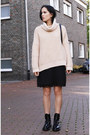 Black-zara-boots-black-zara-dress-light-yellow-zara-sweater