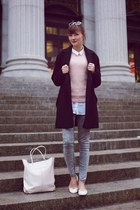 Mango coat - Alexander Wang bag - LeBunny Blue flats