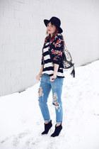 Aldo boots - Mango jeans - PERSUNMALL jacket - Stradivarius blouse