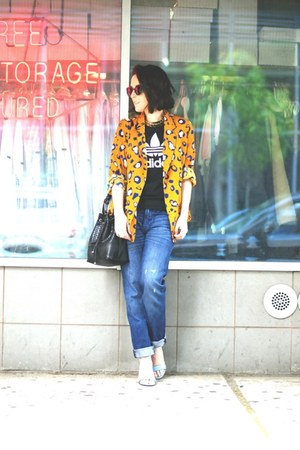 blue boyfriend jeans Gap jeans - gold oversized 31 Phillip Lim blazer