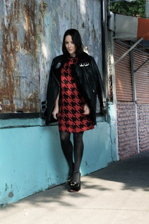 Pepe Jeans coat - Charlotte Olympia shoes - Pepe Jeans dress - coach bag