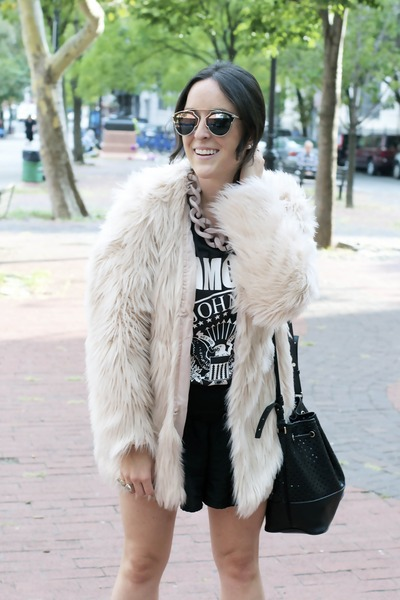 H&M coat - banana republic bag - christian dior sunglasses - H&M sandals