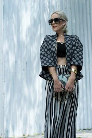 H&M jacket - Tous bag - Prada sunglasses - H&M bra - H&M pants