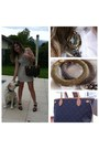 Beige-zara-dress-brown-leather-luis-vuitton-bag