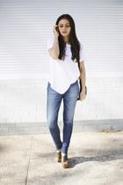 blue slacker track Lee jeans - black Niclaire bag