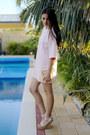Light-pink-nova-scuba-missguided-dress-gold-transparent-niclaire-bag