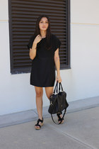 black shell Gillian Tennant dress - black mira Minskat Copenhagen bag