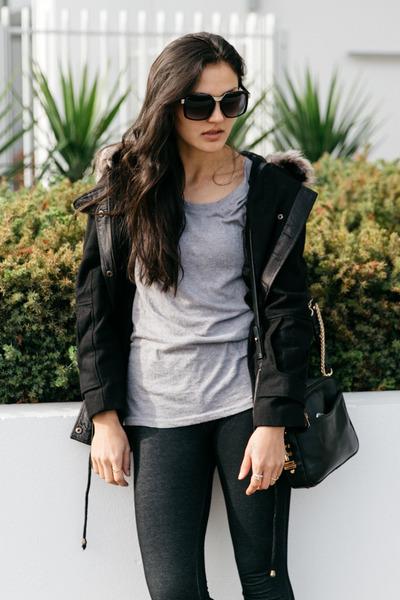 black fur hood parka izabel london coat