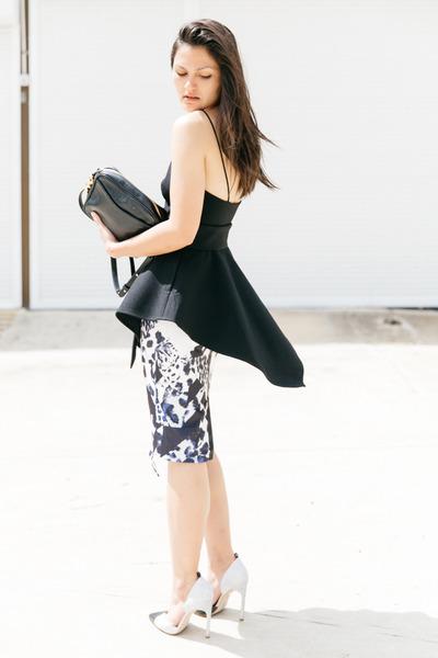 black Dylan Kain bag - violet Seduce skirt - white The Mode Collective heels