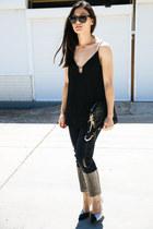black rodriguez Dylan Kain bag - black oversized zeroUV sunglasses