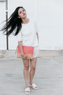 Pink-lea-clutch-minskat-copenhagen-bag-ivory-language-lifewithbird-shorts