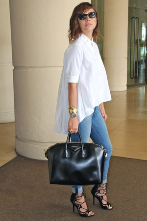viktor & rolf shirt - rag & bone jeans - Givenchy bag - Giuseppe Zanotti heels