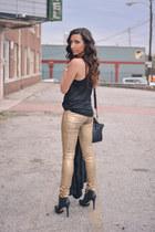 gold J Brand leggings