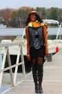 Black-over-the-knee-aldo-boots-black-assymetrical-atistab-dress