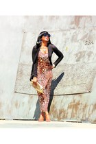 tawny H&M dress