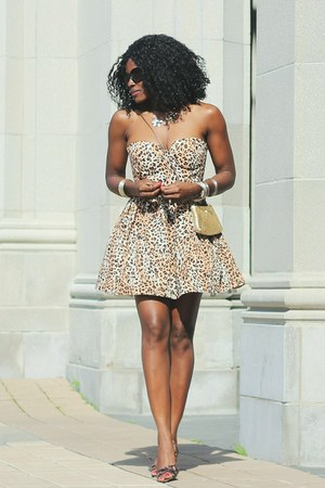 brown tulle Seductions dress