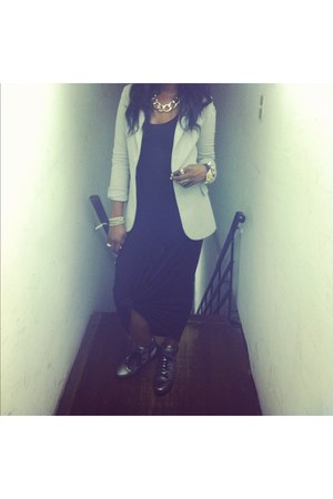 H&M dress - Zara blazer - vagabond sneakers - Aldo necklace