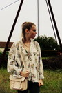 Heather-gray-dotted-bershka-jeans-dark-khaki-floral-print-vintage-shirt