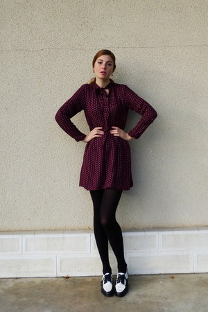 maroon printed Pull & Bear dress