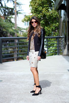 leopard print asos top - ankle strap Lulus shoes - bamboo Gucci bag
