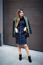 black ankle boots asos boots - navy denim 7 for all mankind dress