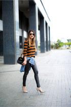 burnt orange stripes Forever 21 top