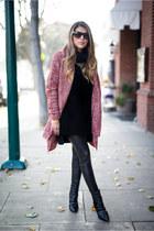 black booties sam edelman boots - black faux leather Topshop leggings