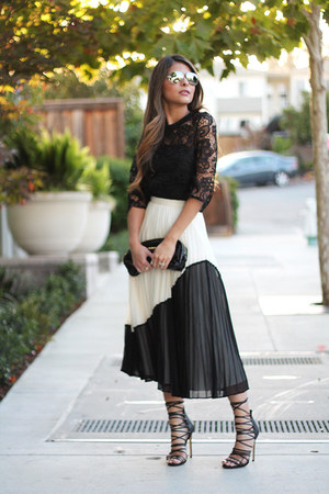 black polyester banana republic skirt - black Prada bag