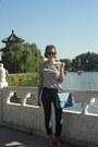 H-m-jeans-zara-shirt-denim-chanel-bag-ray-ban-sunglasses-zara-flats