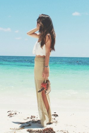 gold maxi skirt Sunaj skirt - crop top free people top