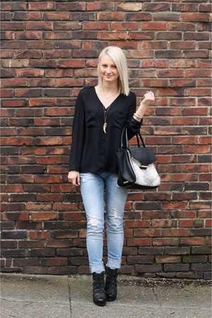 Vince Camuto bag - denim pants Zara jeans - Forever 21 jacket