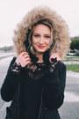 Astr-dress-faux-fur-coat-forever-21-coat-forever-21-heels