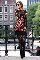 LInea Azzurra boots - sage and ivy dress - H&M leggings - Mango bag