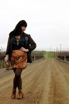 brown Anthropologie shoes - dark brown Urban Outfitters blazer - dark brown Gap