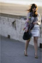 Gap sweater - Forever 21 hat - Miu Miu scarf - Gap skirt - Zara heels