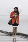 Navy-madewell-scarf-red-banana-republic-jacket-navy-anthropologie-skirt