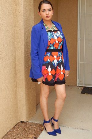blue Forever 21 blazer - red Peter Pilotto For Target romper