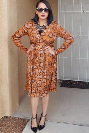 burnt orange ALTUZARRA dress