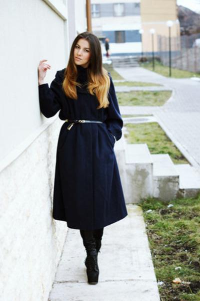 vintage coat - Jeffrey Campbell boots - Zara pants - H&M bracelet