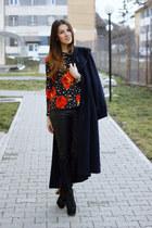 Topshop blouse - Jeffrey Campbell boots - Zara pants
