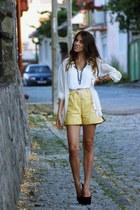 emporio armani shorts - H&M shirt - Zara top - asos wedges